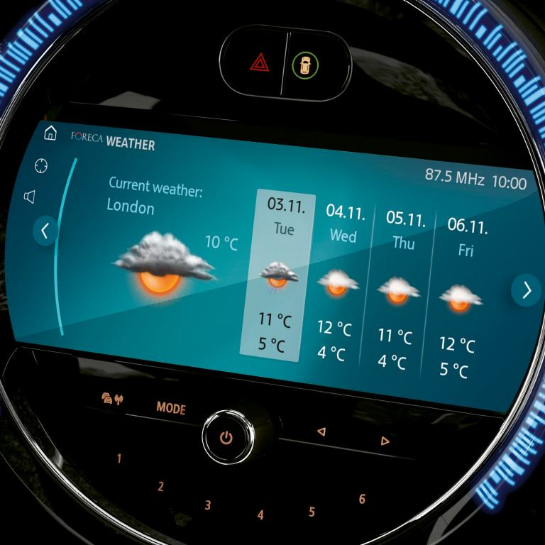 mini connected - drive services weather